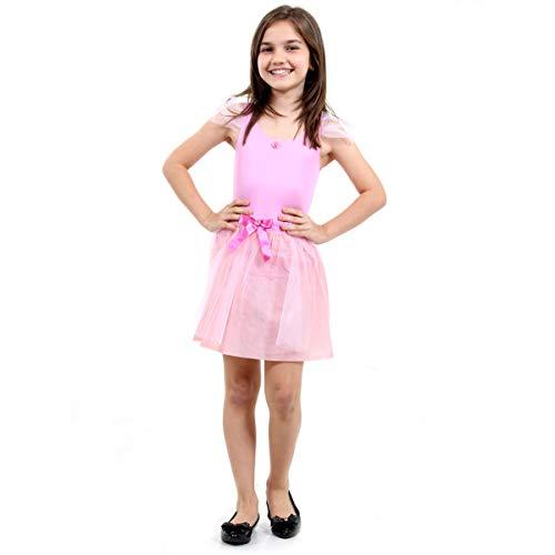 Bailarina Pop Infantil Sulamericana Fantasias Rosa M 6/8 Anos