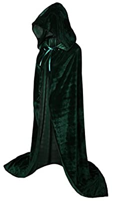VGLOOK Hooded Cloak Long Velvet Cape for Christmas Halloween Cosplay Costumes 59""