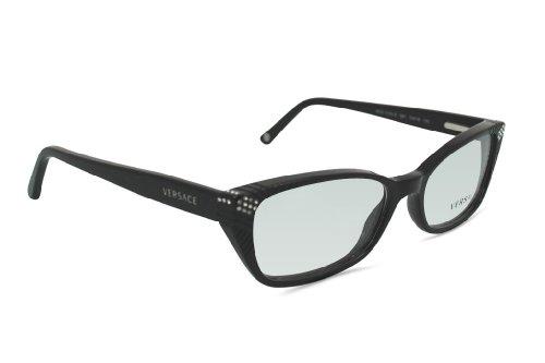 Versace Eyeglasses Gb1 Shiny Black Demo Lens 53 16 (Gb1 Lens)