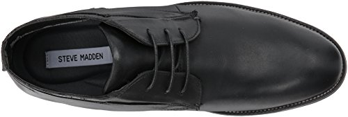 Steve Madden Mens Quazzy Chukka Boots Svart Läder