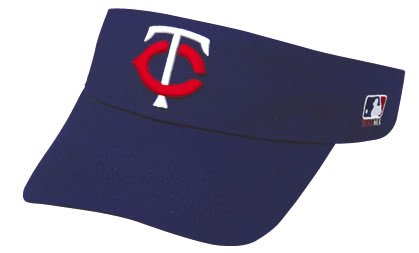 Minnesota Twins Officially Licensed MLB Adjustable Velcro Adult Visor