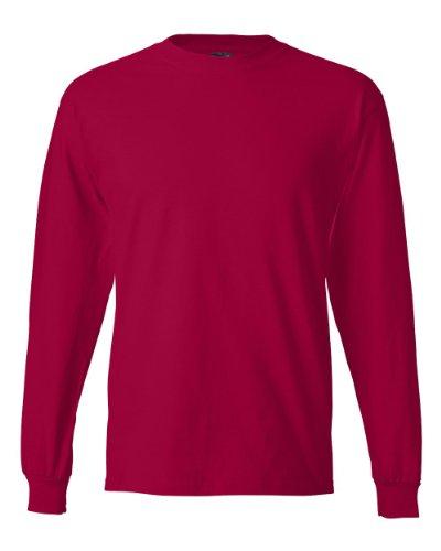 Hombres Larga t Manga Beefy Poppig nbsp;camiseta De Los nbsp; Hanes nq8ZFwxXvq
