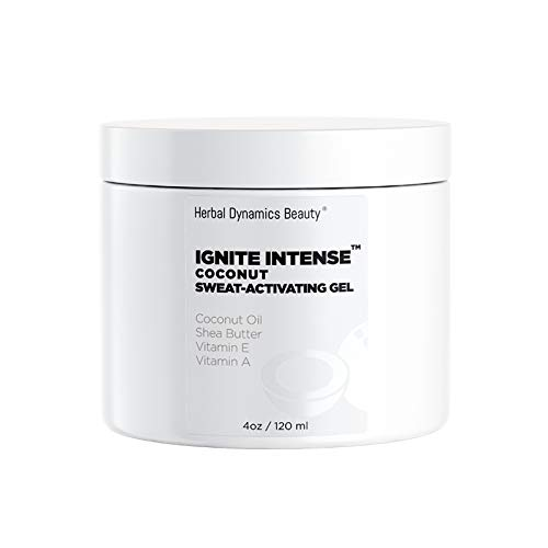 HD Beauty Ignite Intense Coconut Sweat-Activating Gel with Shea Butter, Jojoba Oil, Vitamin A, Vitamin E, and Vitamin B5 for Enhancing Perspiration, 4.0 oz]()