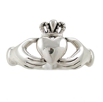 product hei jsp prd sharpen claddagh wid bands ring op silver sterling