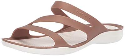 Crocs Women's Swiftwater Sandal | Casual Comfort Slip On | Lightweight Water and Beach Shoe