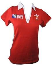 WRU Rugby World Cup 2015 Ladies Short Sleeve Rugby Shirt uk 14/16
