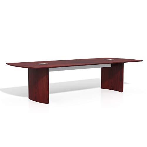 Safco Medina Table, 10', Mahogany