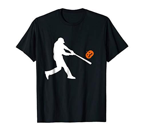 Pumpkin Kick Halloween Tshirt Funny Gift For Baseballer