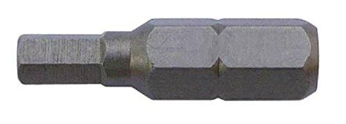 Alfa Tools HSB16102 2.5mm x 1 Metric Hex Insert Bit 25 Pack