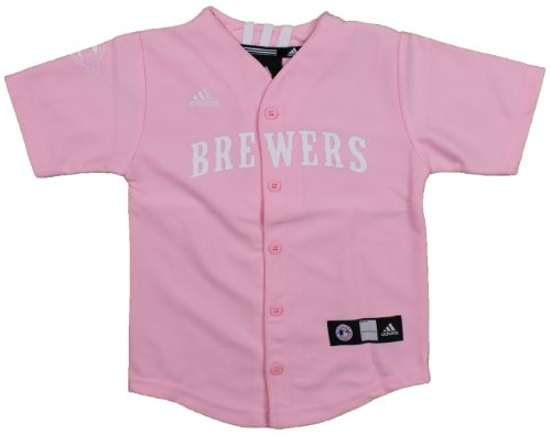 MLB Milwaukee Brewers Toddler Pink Jersey By Adidas