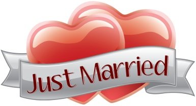 Just Married Hearts Car Sign -
