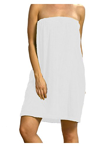 Wrap Adult Bath (Terry Womens Cotton Blended Bamboo Spa Cover Up- XXL Size White Color)