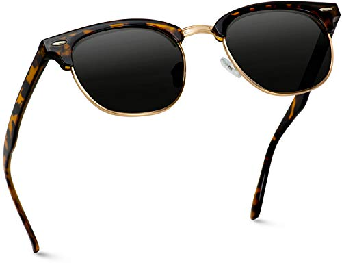 WearMe Pro - Classic Half Frame Polarized Semi-Rimless Rimmed Sunglasses (Pretty Little Face On That Pretty Little Frame)