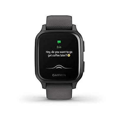 Garmin Venu Sq, GPS Smartwatch with Bright Touchscreen Display, Up to 6 Days of Battery Life, Slate