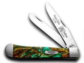 CASE XX Abalone Genuine Corelon 1/500 Trapper Pocket Knife Knives