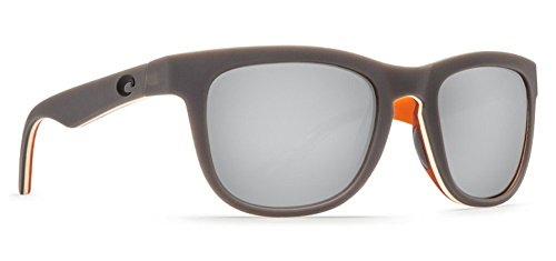 - Costa Del Mar Copra Sunglasses Matte Gray/Cream/Salmon/Copper Silver Mirror 580Plastic