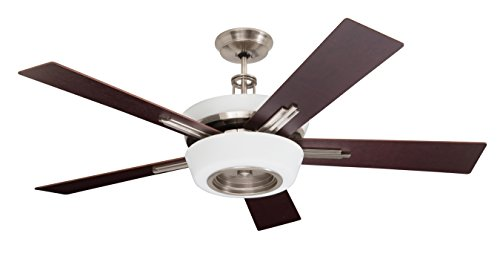 Emerson Ceiling Fans CF995BS Laclede Eco Indoor Ceiling Fan With Remote, 62-Inch Blades, Brushed Steel Finish