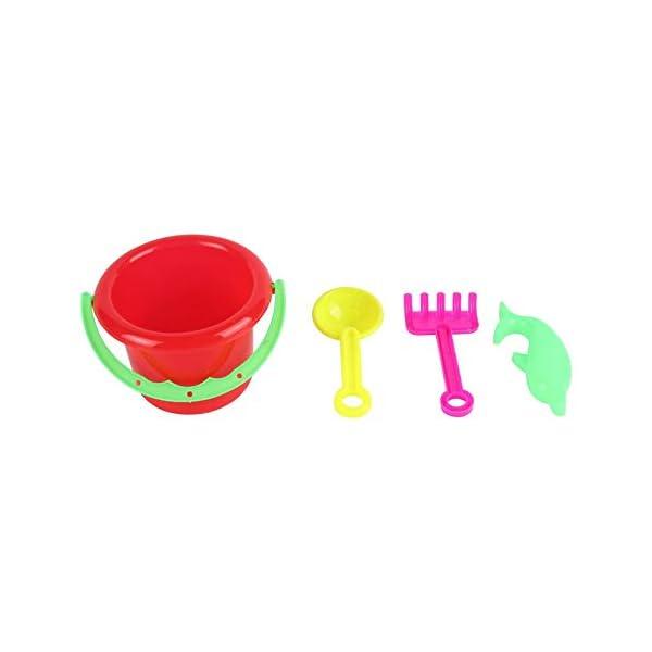 CamKpell 4pcs novità Mini Beach Toys Set Secchiello di Sabbia Secchio con Pala Rake Summer Pool Spiaggia di Sabbia Gioca… 3 spesavip
