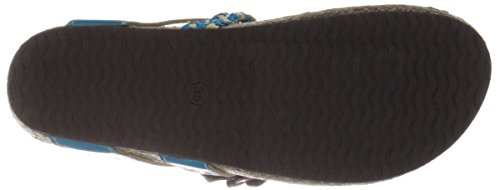 Lartiste By Spring Step Womens Chunali Flat Sandal Turquoise / Multi