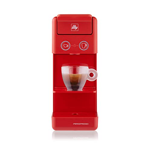 illy Caffè – Cafetera de cápsulas Iperespresso Y3.3, color rojo