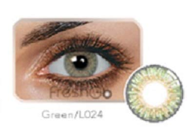 Freshlook Eyes Women Multi-Color Cute Charm and Attractive Fashion Contact Lenses Cosmetic Makeup Eye Shadow W/Case (FAST FREE SAME DAY SHIPPING!! (GREEN)