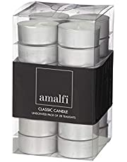 Amalfi Classic Unscented Tealights, Pack of 28