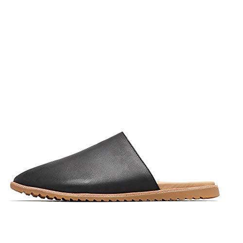 Sorel - Women's Ella Mule Slip On Shoes, Full-Grain Leather, Black, 6.5 M US