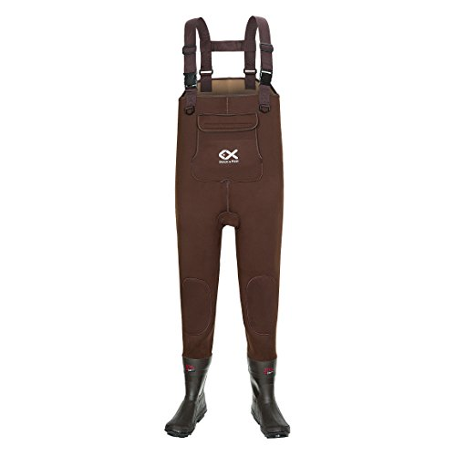 Cheap DUCK & FISH Duck and Fish Brown Neoprene 200G Thinsulate Hunting Fishing Air Bob Sole Bootfoot Chest Wader (US 13)