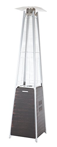 Fire Sense 62263 Coronado Brushed Pyramid Flame Patio Heater, Bronze (Firesense Outdoor Heater Patio)