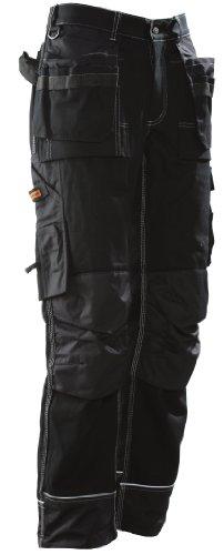 JOBMAN Workwear Men's Ultimate Heavy Duty Workpants Black 34X32