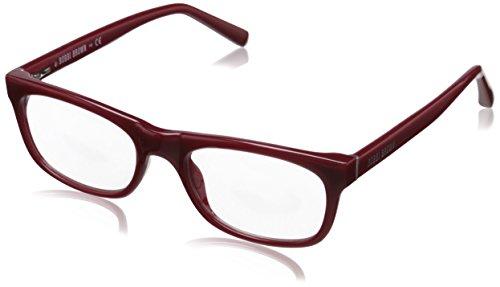 Bobbi Brown Women's The Soho Rectangular Readers, Burnt Red 1.0, 50 - Soho Eyewear