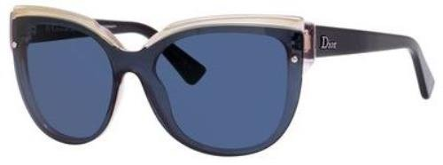 Dior ES9KU Blue and Pink Glisten 3 Cats Eyes Sunglasses Lens Category - Uk Sunglasses Dior