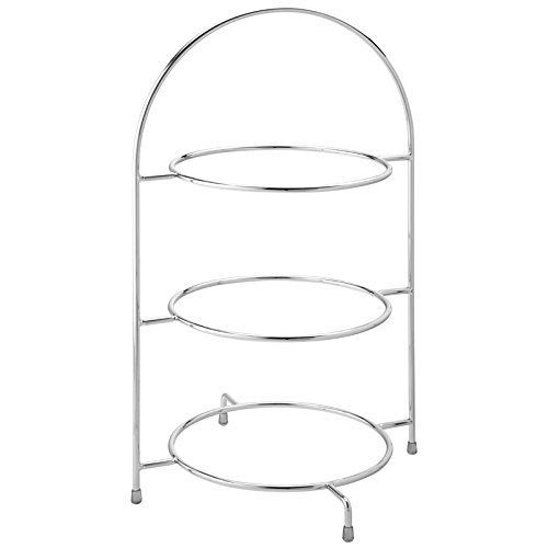 Utopia Chrome 3 Tier Cake Plate Stand 43cm to hold 3x 25c...