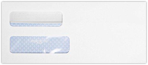 - #10 Double Window Envelope (4 1/8 x 9 1/2) - White Wove w/Redi-Seal(500 Qty)   Perfect for Checks, Invoices, Letterhead, Letters, Statements   24lb. Paper   24559-QP-500