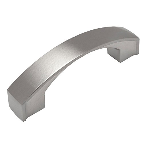 Cosmas® 616-030SN Satin Nickel Modern Cabinet Hardware Arch Handle Pull - 3' Inch (76mm) Hole Centers