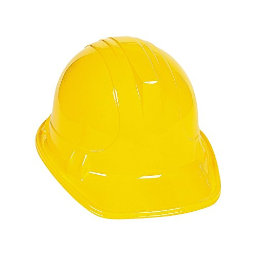 YELLOW CONSTRUCTION HATS (1 DOZEN) - BULK, Model: IN-25-1615 (Book Costumes For Adults)