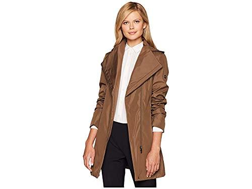 Calvin Klein Women's Hooded Raincoat with Belt Truffle X-Small