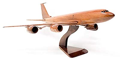 KC-135 stratotanker Replica Aircraft Model Hand Crafted with Real Mahogany Wood