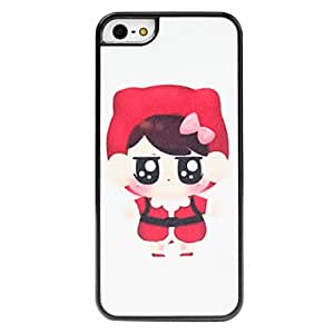 SJT Red Girl Pattern Frosted Surface Hard Case for iPhone 5/5S