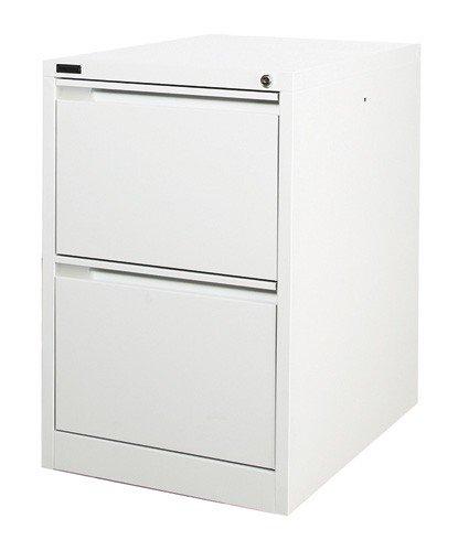 Mueble archivador de acero con 2 cajones, color blanco, 62 x ...