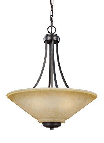 Sea Gull Lighting 6613003EN3-845 Parkfield Pendant, 3-Light LED 28.5 Total Watts, Flemish Bronze -