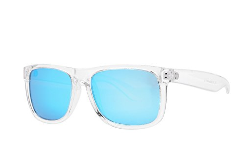 - PZ Polarized Classic Crystal Sports Sunglasses (Transparent + Ice Blue Mirror)