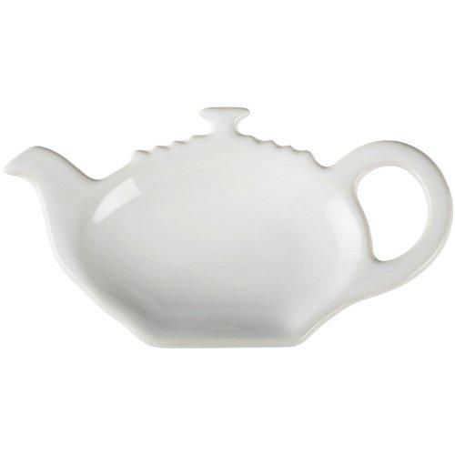 Le Creuset White Stoneware Tea Bag Holder