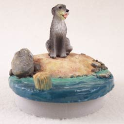 Conversation Concepts Miniature Irish Wolfhound Candle Topper Tiny One ''A Day on the Beach''
