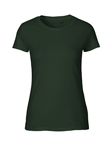 NEUTRAL Ladies Fit T-Shirt, 100% Organic Cotton and Fairtrade Certified, Color bottlegreen, Size L