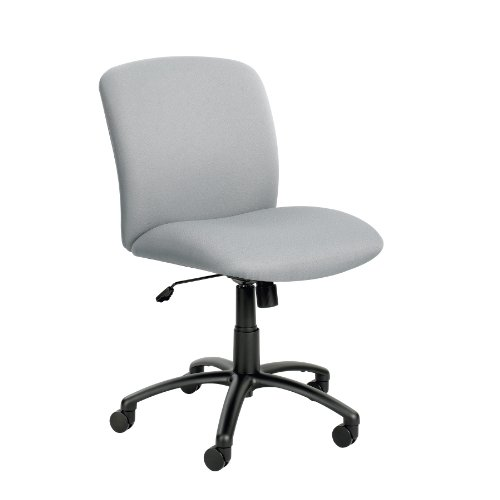 Safco Big And Tall Chair – Mid-Back – 18-1 2 -22-1 2 Seat Height – Fabric – Gray – Gray