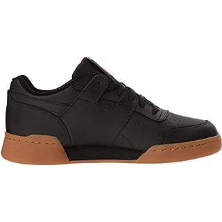 Reebok Men's Workout Plus Sneaker, Black/Carbon/Classic red Royal-Gum, 5.5 M US