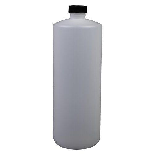Consolidated Plastics Cylinder Bottle with Cap, HDPE, Natural, 32oz, 12 Piece