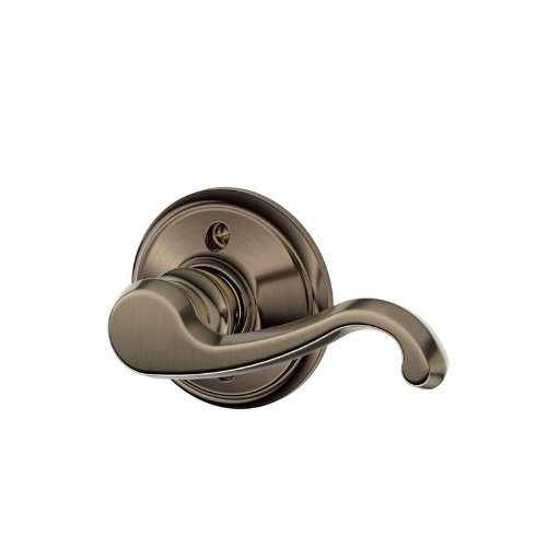 Schlage F59 Callington Left Hand Interior Active Trim with 12326 Latch and 10027 Strike Antique Nickel Finish - Left Hand Callington Lever