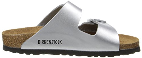 Birkenstock Arizona Femmes US 7 Argenté étroit Sandale EU 38